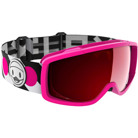 Flaxta Candy Goggles Jugend bright pink-dark red